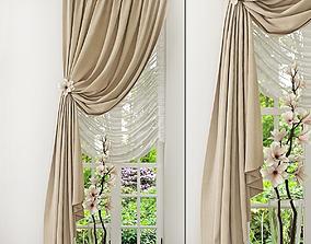 classic rail Curtain 3D model