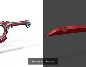 Anime swords 3D model