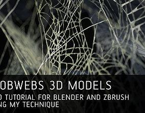 12 Cobwebs 3D models with tutorial for Blender and