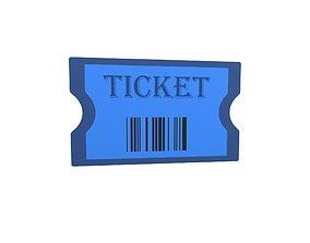Cartoon Ticket v1 003 3D asset
