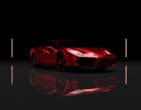 3D Ferrari 488 GTB