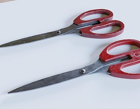 household 3D rigged Scissors