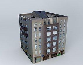 3D model Galleon building