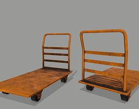 cupboard Trolley 3D model realtime