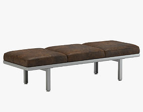 Brown George Nelson Bench 3D
