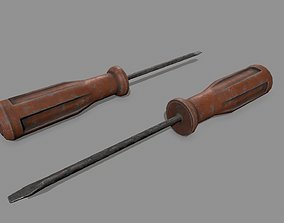 3D asset game-ready industry screwdriver