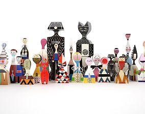 decor Wooden Dolls 3D model