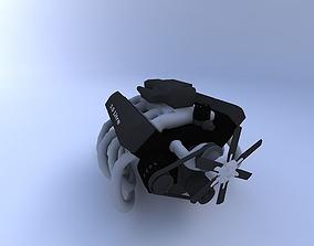 3D model Engine, V-8
