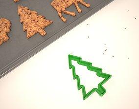 Cookie mold Christmas tree 3D printable model