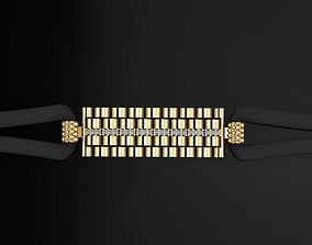 gold 3D print model Rolex bracelet