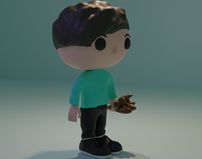 3D Pop Funko type character with weapon