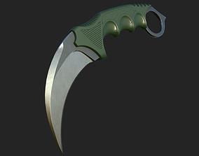 3D asset Karambit knife