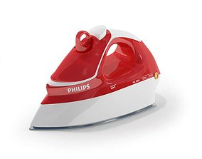 3D model Red Philips Iron