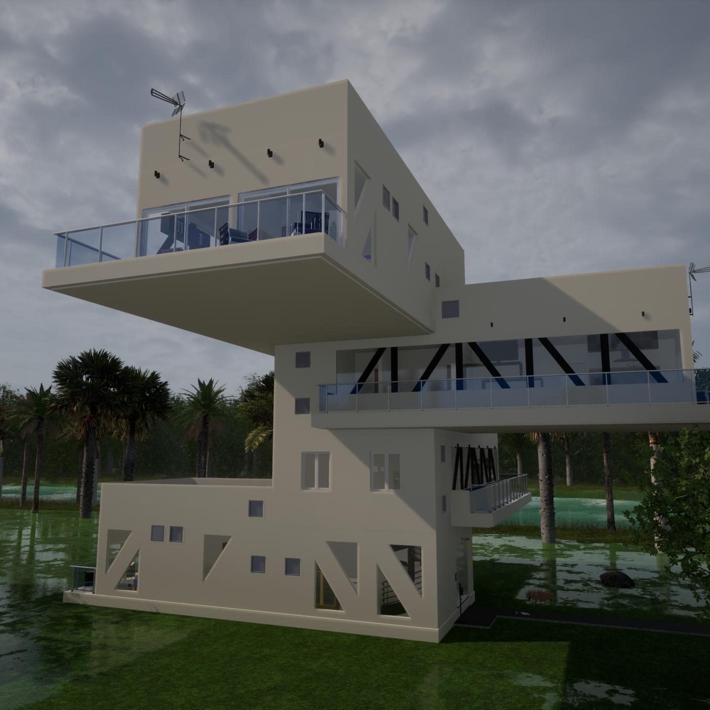 Renderings of Housing Modules