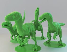 Low Poly Raptors Pack 3D printable model