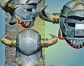 Gladiator Helm HighPoly steel 3D