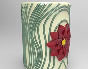 3D print model Flower pot pencils holder