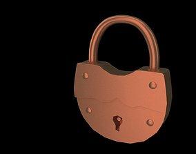 3D model Retro lock