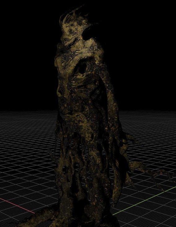 Spooky Cheap Tree Beast Low-poly 3D model