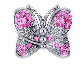 Charm butterfly 3D print model