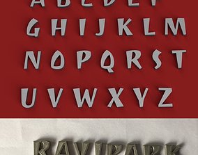 RAVIPARK uppercase and lowercase 3D Letters STL FILE