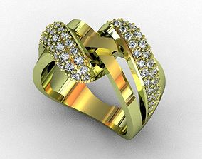 rhinoceros 3D printable model Ring diamond