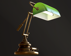 Classic Green Table Lamp 3D model