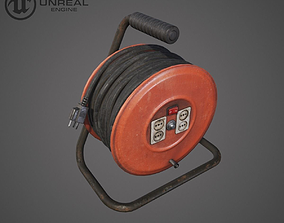 Extension Cable 3D asset
