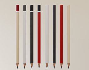 pen 3D model game-ready Pencil