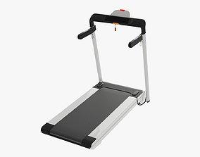Compact treadmill foldable 3D model