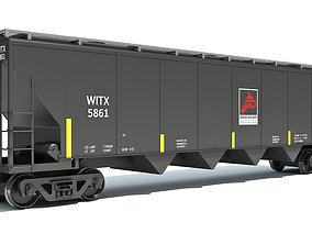 Covered Hopper Car 3D model