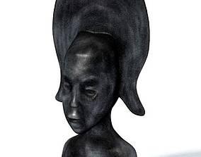3D Statute African Tribal Figurine