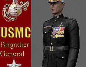US Marine Corps Brigadier General MAX 9 Rigged 3D asset