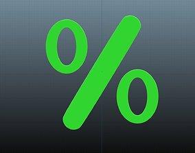3D model Percent symbol