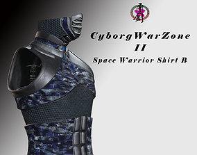 3D asset Cyborg Warzone - Space Warrior Shirt B