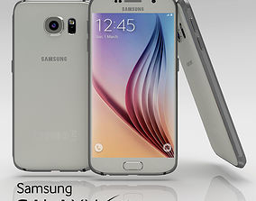 3D asset Samsung Galaxy S6 White Pearl