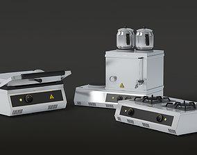 Professional Kitchen Machines - Toaster - Tea 3D asset 2