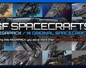 3D SF Spacecrafts MEGAPACK
