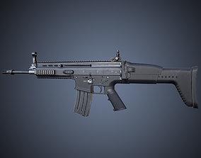 SCAR-L Rifle 3D asset