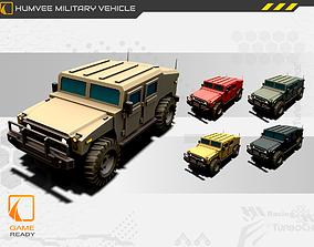 Humvee Military Vehicle Game Asset 3D model