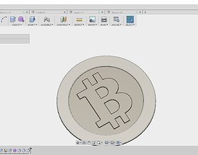 3D print model 5 Cryptocoins pack low-poly