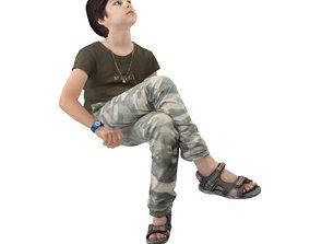 3D model No515 - Kid Sitting