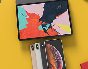 3D iPhone XS Max and iPad Pro 2018 Bundle With All Colors