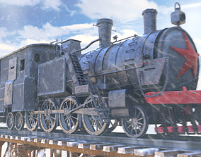 train 3D animated