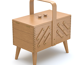 Rigged Expandable Sewing Box 3D