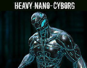 3D model rigged Heavy Nano-Cyborg
