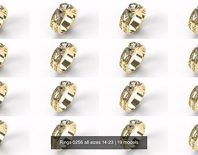 Rings 0256 all sizes 14-23 3D
