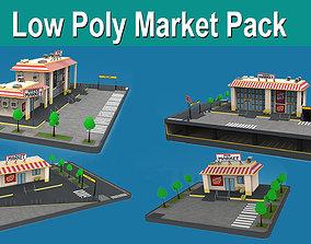 Low Poly Market Pack 3D asset
