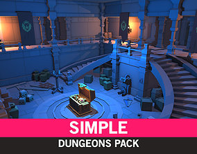 Simple Dungeons - Cartoon Assets 3D model game-ready