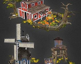 3D model Low Poly Farm Set 01